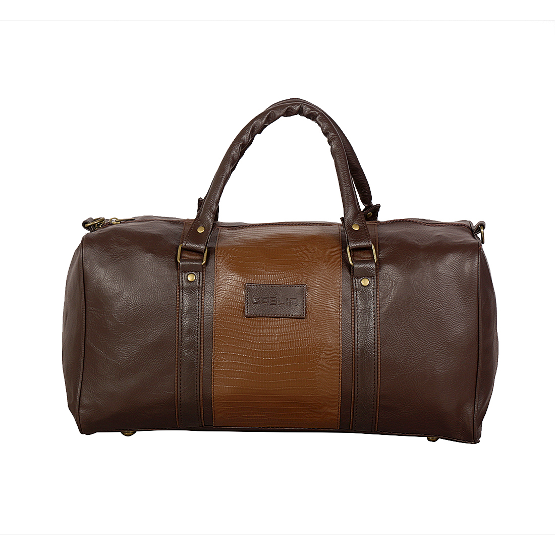0ebaa17dd3c1 Nexa Goblin Brown Leather Duffle Bag - Goblin India